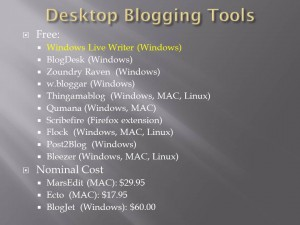 Desktop Blogging Tools