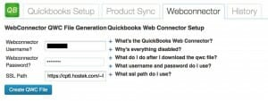 QuickBooks Integration Plugin Webconnector Tab