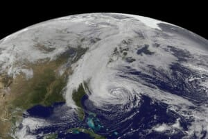 Emergency Operations Plan: Hurricane Sandy Geostationary Operational Environmental Satellite Image