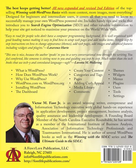 Winning With WordPress Basics 2nd Edition - Back Cover