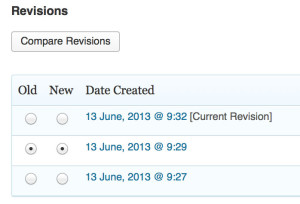 Easter Egg in WordPress Compare Revisions