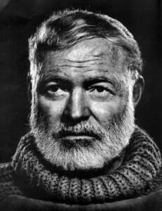 Author Box Title Customization in Genesis, Ernest Hemingway public domain image courtesy of pixabay.com