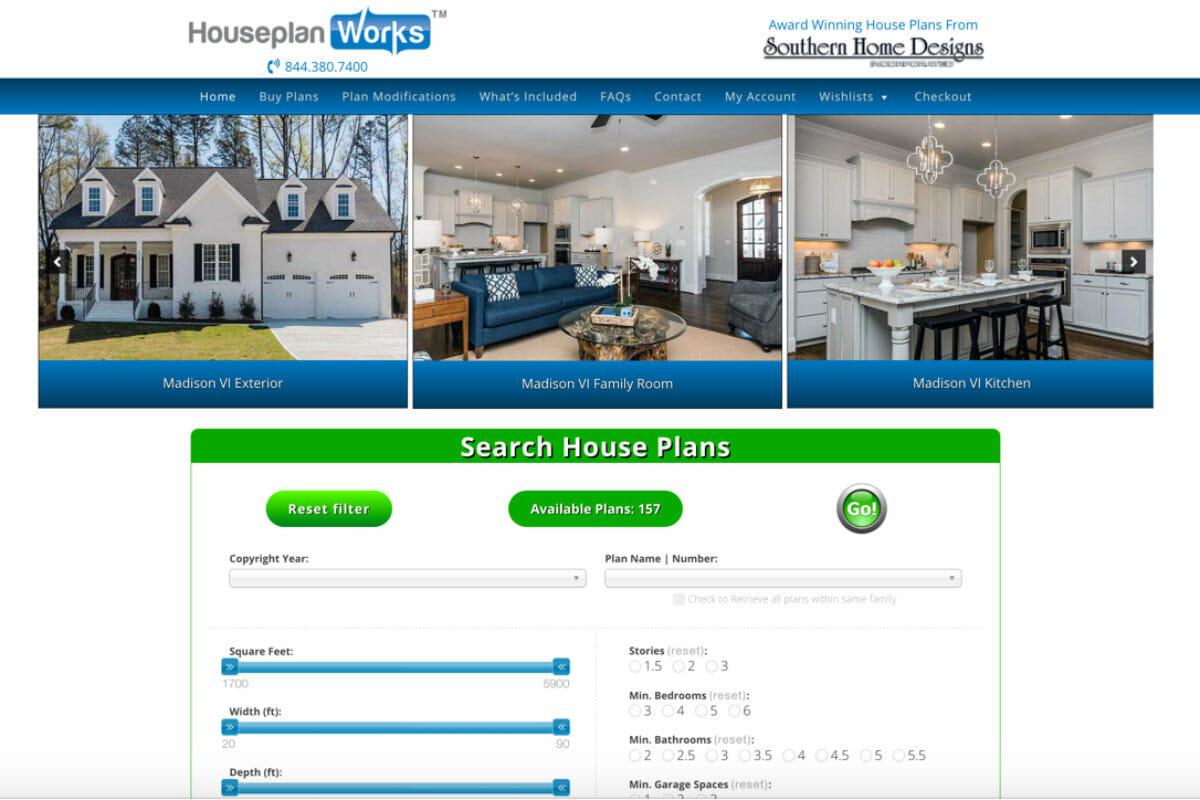 HousePlanWorks.com screen capture